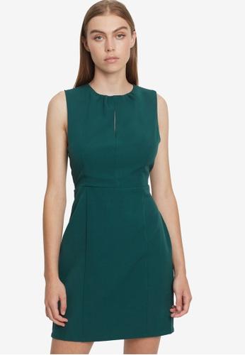 REUX green James Mini Dress 2AB44AAB6F15D0GS_1