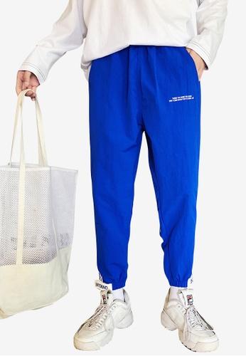 hk-ehunter blue Men Relax Fit Ankle-Length Pants 65D31AA75E0322GS_1