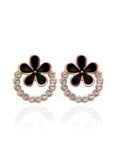 18k Rose Gold Plated Olga Flower Earrings