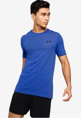 Under Armour 藍色 UA Seamless Wave Short Sleeve T-Shirt E6173AA1D92059GS_1