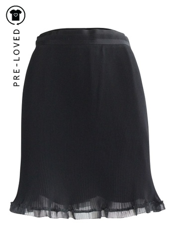 Carven black Pre-Loved carven Pleated Skirt 48F85AA9F3DFD0GS_1