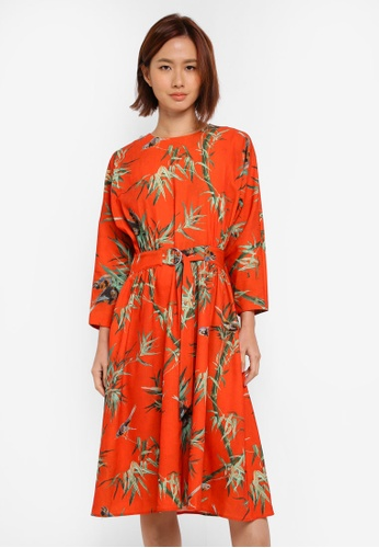 WAREHOUSE multi Barbara Print Dress B7B1DAA4553C5EGS_1