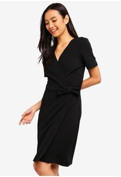 6c03cfd2056cb Dorothy Perkins black Black Bow Wrap Dress B561FAA54E18B5GS 1