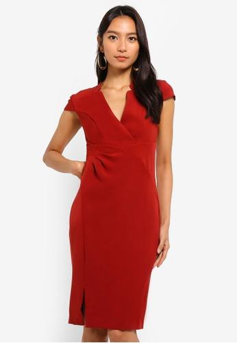 Lipsy red Cap Sleeves Mini Dress FA413AA91EC2C0GS_1