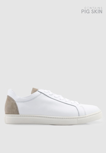 Selected Homme white David Contrast Trainers 53C9DSH90367BBGS_1