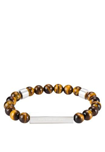 Rokk 串珠金屬條手鍊, 飾品esprit香港門市配件, 手環