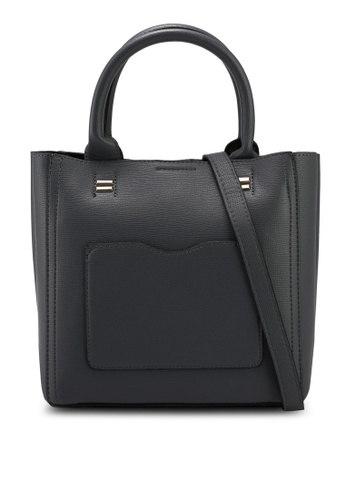 Unisa grey Textured Multi-Compartment Top Handle Bag 7CAD8AC854DBADGS_1