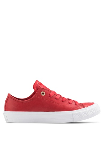Converse red Chuck Taylor All Star II Ox Sneakers CO302SH44QKLMY_1