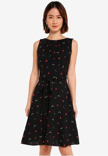 Dorothy Perkins black Bee/Strawberry Viscose Dress BB22CAA2E7F0B1GS_1