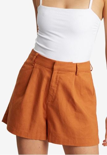 The Fated orange Estelle Shorts 4BCECAAFE21B13GS_1