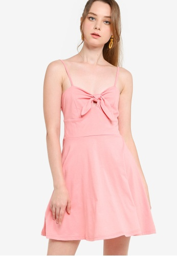 Something Borrowed pink Spaghetti Strap Rib Dress 004BCAAC9BEA4DGS_1