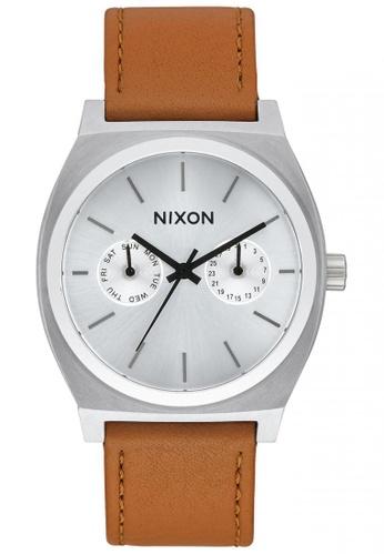 Nixon brown and silver Nixon - TimeTeller Deluxe Leather - Sunray NI855AC60SXVSG_1