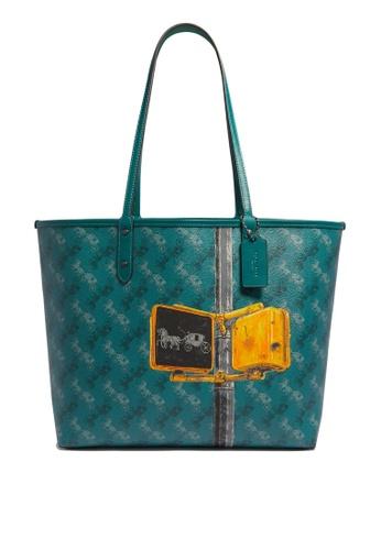 Coach green Reversible City Tote Bag (cv) AA286AC50774A8GS_1