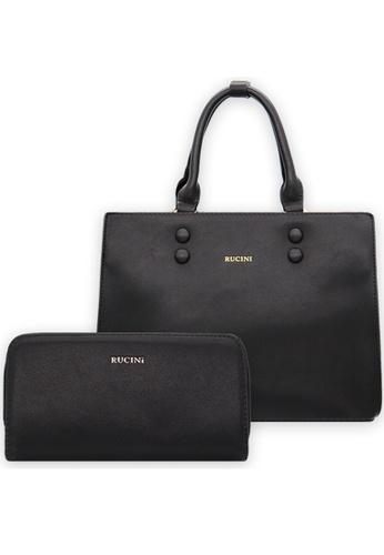 RUCINI black Rucini Handbag with Wallet Black CBBD5AC7B0D874GS_1