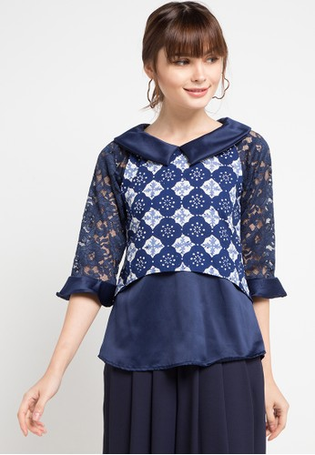 Vestiti blue Gendis Brokat Top 62BFEAA6610A75GS_1