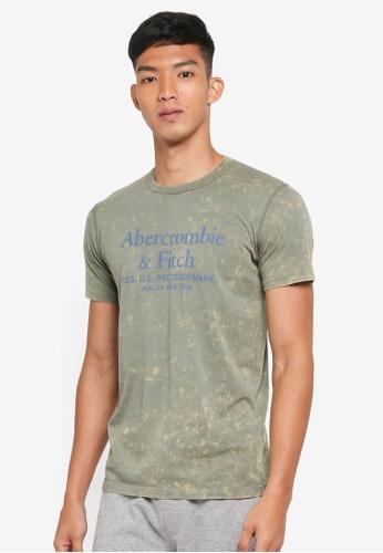 Abercrombie & Fitch green Brand Logo T-Shirt 9A60BAA21A56CBGS_1