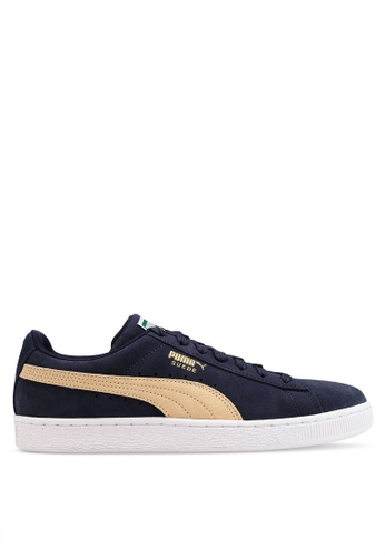 PUMA navy Suede Classic Sneakers 35BAESHA7D64AAGS_1