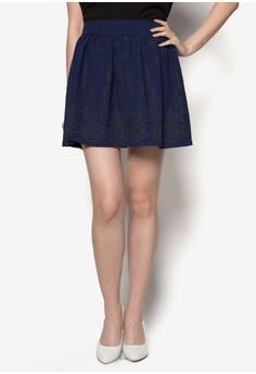 Flocked Skirt