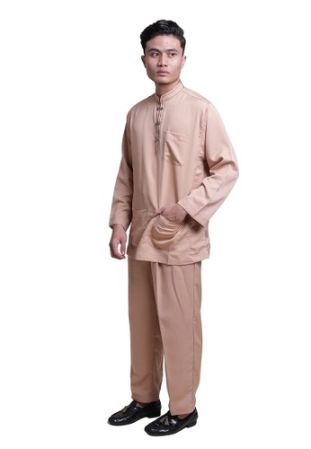 Denai Boutique brown Baju Melayu Ziyyad EC5ECAAB1F8125GS_1