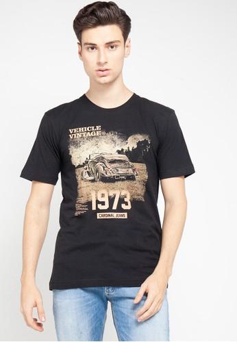 Cardinal black T-Shirt Tangan Pendek 48310AAE9BF942GS_1