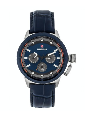 Expedition blue Expedition Jam Tangan - Blue Silver - Leather Strap - 6765 BFLTUBU 57B86AC2ED6095GS_1