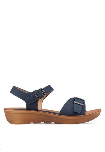NOVENI 海軍藍色 Buckle Strap Sandals 72BD5SHDB889C1GS_1