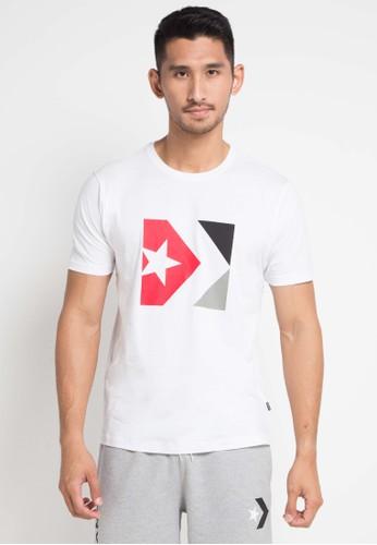 Converse white Star Chevron Sneaker Print Tee D18A8AAD617998GS_1