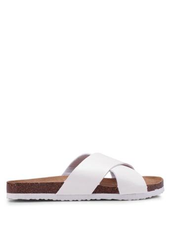 Rubi 白色 繞帶涼鞋 B7373SHEBF393CGS_1