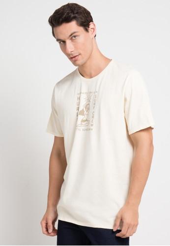 hurley beige Hvy Sundown T-Shirt DDFB2AABEC57A0GS_1