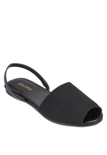 露趾寬帶繞踝平底涼鞋、 女鞋、 鞋ZALORA露趾寬帶繞踝平底涼鞋最新折價