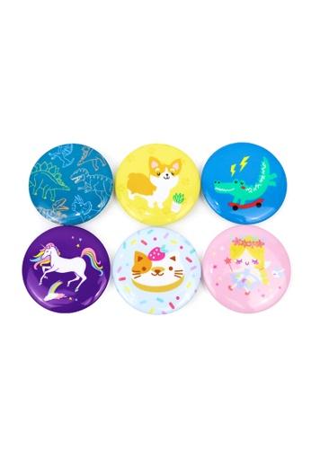 Ripples multi Kids Pin Badges Set B B2CDBKCEC54A0FGS_1