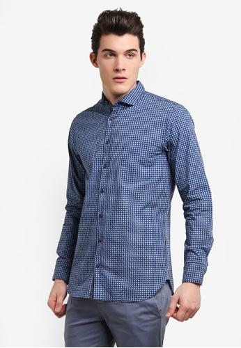 Boss Orange blue Cattitude Shirt BO434AA0RIDGMY_1