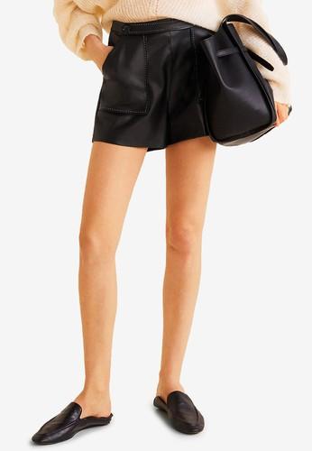 MANGO black Contrasted Seams Shorts A50C0AADD5D8C2GS_1