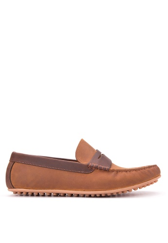 Bristol Shoes brown Stratton  Penny Loafer Driving Shoes BR842SH29KDUPH_1