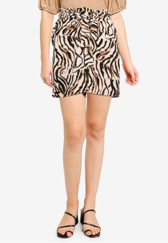 Vero Moda beige Saga High Waist Long Shorts 8F37BAA7BA50D9GS_1