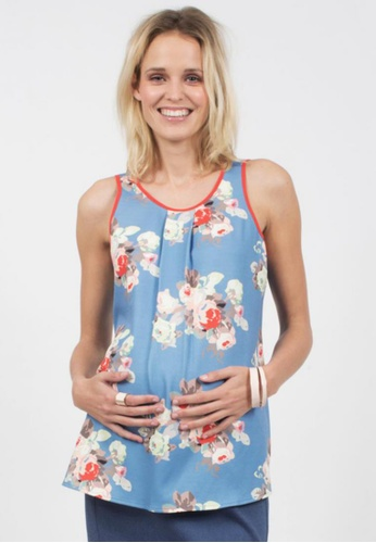 Bove by Spring Maternity multi Ballencia Woven Sleeveless Printed Top ITN6001 SP010AA61SASSG_1
