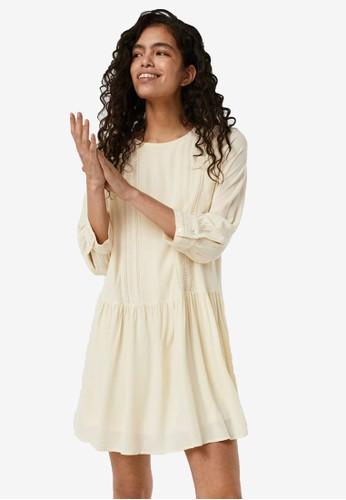 Vero Moda beige Lace Mini Dress D13CFAA70339CDGS_1