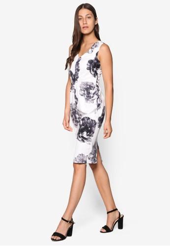 單色印花無袖鉛筆連身裙、 服飾、 Love Your CurvesDorothyPerkins單色印花無袖鉛筆連身裙最新折價