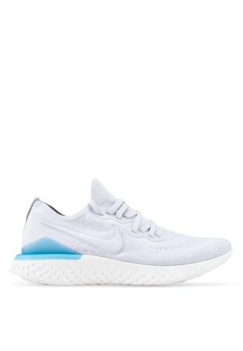 Nike grey Nike Epic React Flyknit 2 Shoes 1C3A2SH51AACF0GS_1