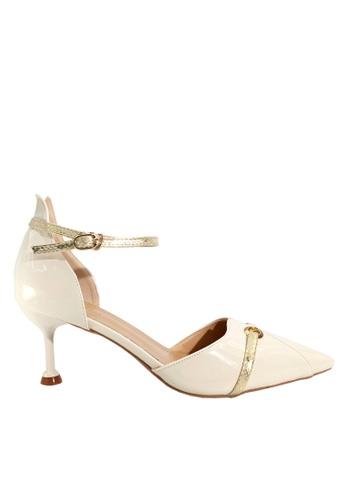 Twenty Eight Shoes 白色 蛇紋幼帶高跟鞋 VL1913 BE73ESH034A3F4GS_1