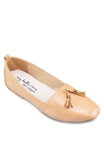 Stella esprit門市地址仿皮流蘇平底鞋, 女鞋, 芭蕾平底鞋