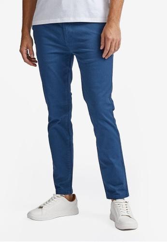 Burton Menswear London blue Skinny Denim Blue Chinos 798BCAAF0870D3GS_1