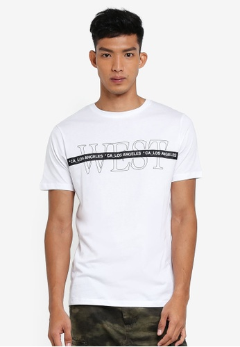 River Island white West Tape Tee 60A9BAAEB83999GS_1