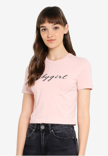Factorie pink and orange and multi Fitted Graphic T-Shirt C70F0AA45DC578GS_1