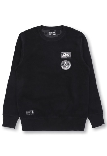 izzue black Appliqué sweatshirt D9E15AAC50BE0AGS_1