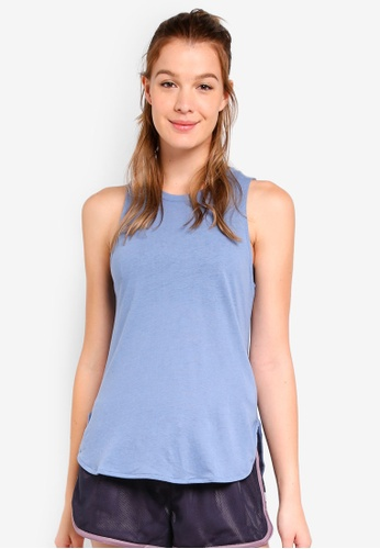 Cotton On Body blue Scooped Flow Tank Top 50E26AADEB1E78GS_1