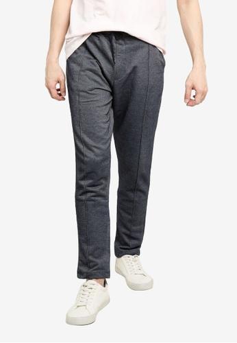 KOTON blue Textured Sweatpants 5CEB5AA559DD22GS_1