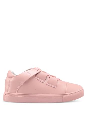 Something Borrowed pink Cross Straps Sneakers 1860FSHB97BC5CGS_1