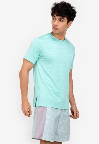 ZALORA ACTIVE green Illusion Printed T-Shirt A7394AAB7A2F3FGS_1
