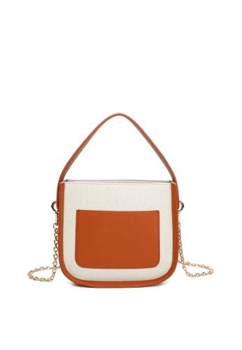 Milliot & Co. brown Simona Top Handles Bags 7B657AC52614B8GS_1